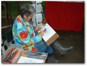 Me Coloring a Mandala