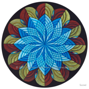 """Sacred"" Mandala - Full Color"