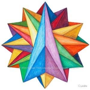 """Crystalite Mandala - 12"""" Diameter"""