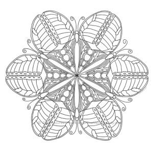Butterfly Mandala Design