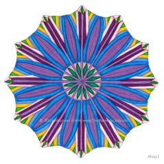 "Ahna Mandala #1 - 12"" Diameter, Color Pencils"