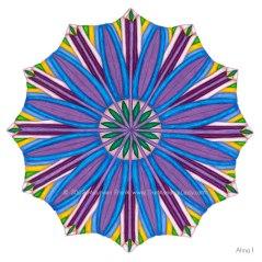 """Ahna Mandala #1 - 12"""" Diameter, Color Pencils"""
