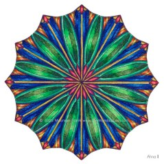 "Ahna Mandala #2 - 4"" Diameter, Color Pencils"