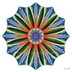 """Ahna Mandala #3 - 4"""" Diameter, Markers"""
