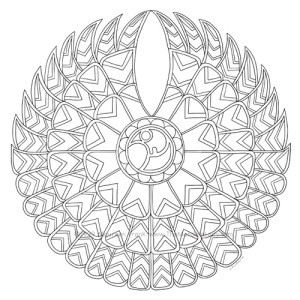 Falcon Mandala Design