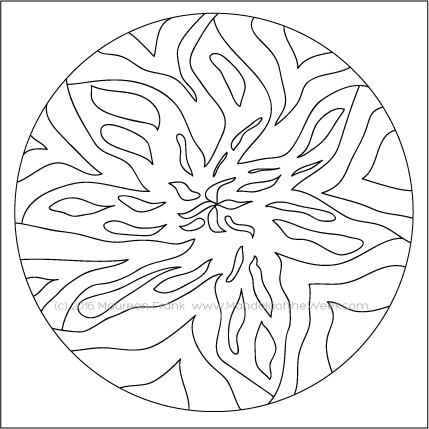 Ring of Fire Mandala by Maureen FrankRing of Fire Mandala by Maureen Frank
