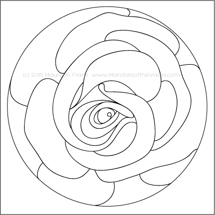 A Rose is a Rose Mandala by Maureen Frank