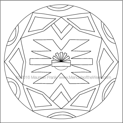 Round Homes Mandala by Maureen Frank (me)