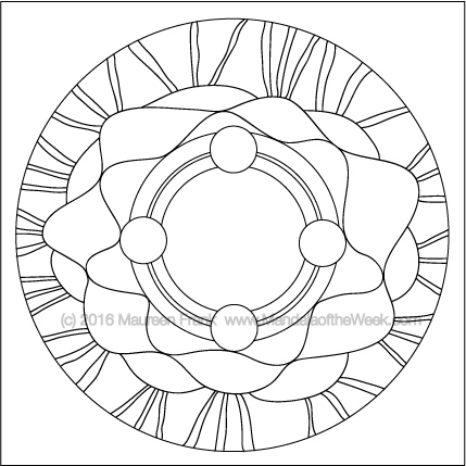 Crowning Glory Mandala by Maureen Frank (me)