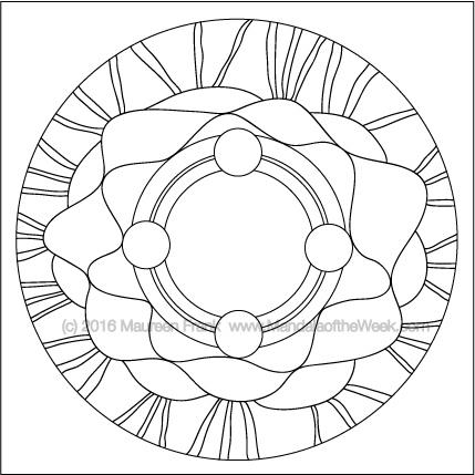 Crowning Glory Mandala by Maureen Frank (me)