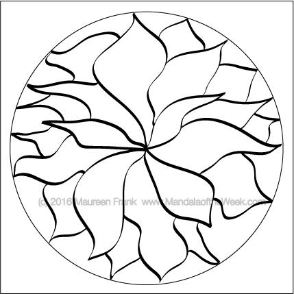 Hand Drawn Mandala by Maureen Frank (me)