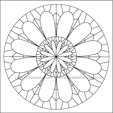 Round Ancient Roman Structures Mandala by Maureen Frank (me)