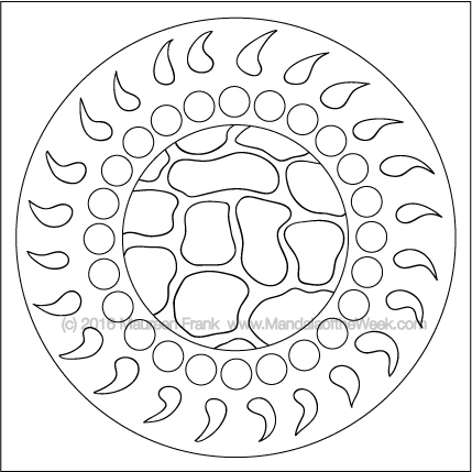 Buckle Up Mandala to Color by Maureen Frank (me)