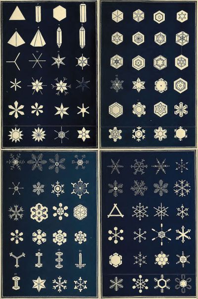 An early classification of snowflakes by Israel Perkins Warren