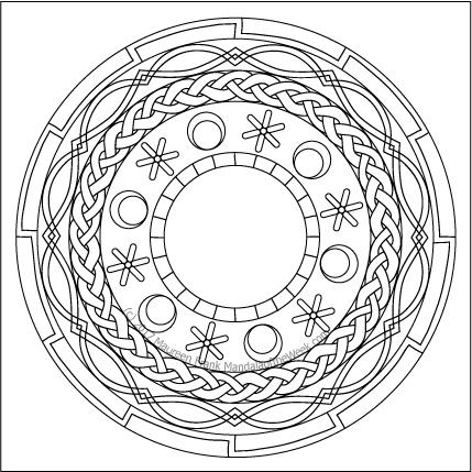 Floors Mandala to Color by me (Maureen Frank)