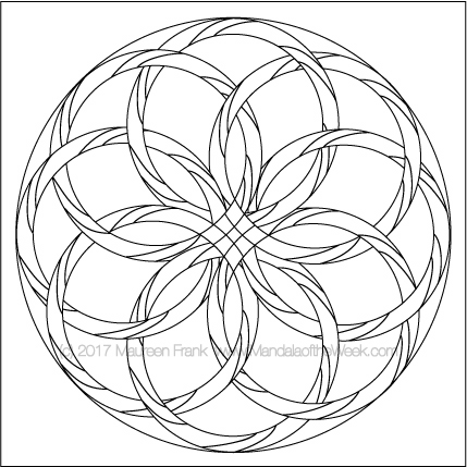 Hoops Mandala to Color by me (Maureen Frank)