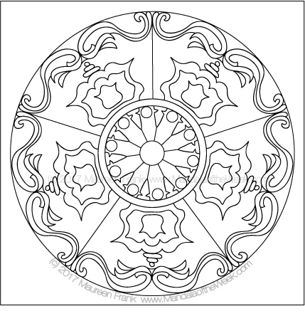 Lights Mandala to Color by me (Maureen Frank)
