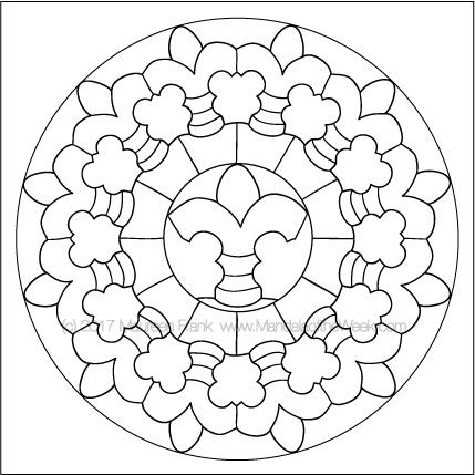 Plates Mandala to Color by me (Maureen Frank)