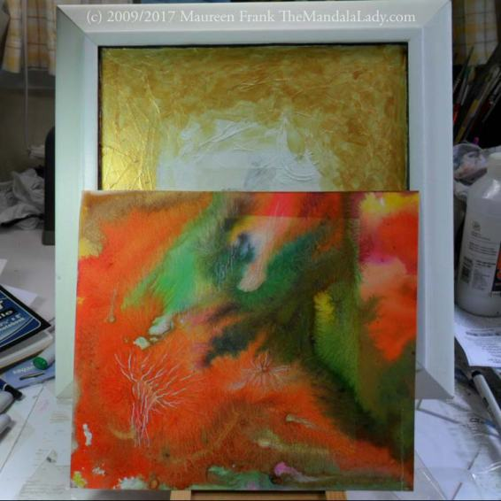 Neural Pathways - Happenings Art - The Mandala Lady - Orange - abstract painting
