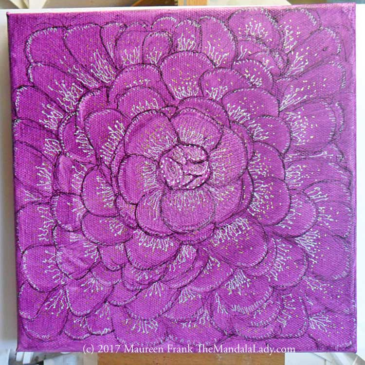 Fuchsia Mandala - Mandala of the Week - The Mandala Lady