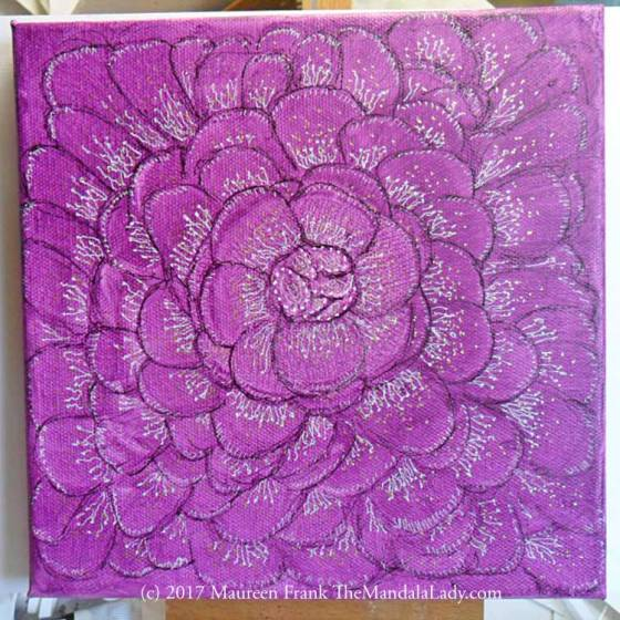 Fuchsia Mandala - Mandala of the Week - The Mandala Lady